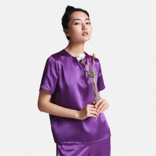 真丝T恤-星空紫 | 居家服也可外穿 触感丝滑