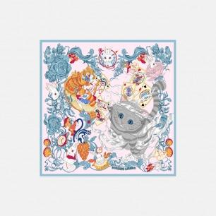 Wonderland经典方巾    原创手绘印花【两色】
