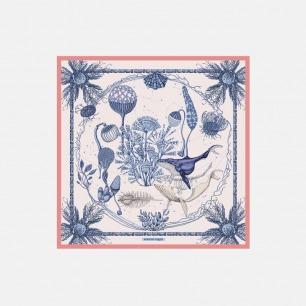 Cosmos 小方巾   原创手绘印花【两色】