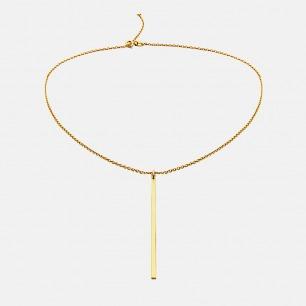 简约直线条项链 戚薇同款 | 直线条简洁凝练 引领时尚