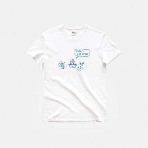 全棉T恤短袖 relax乐队 | 印花原创设计夏日必备单品