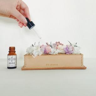 永生花香薰精油摆件 | 天然植物蜡+手工牛皮礼盒