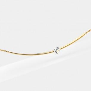 18k金 贝利珠钻石项链   宋茜同款 轻奢时尚精致