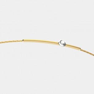 18k金 贝利珠钻石手链   明星同款 设计精致