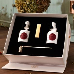 艺术雕塑香薰蜡烛礼盒 | 雕塑蜡烛金砖火柴灭烛器