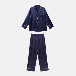 舒适体感男士真丝睡衣套装 | 意大利奢华精致家居服