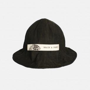 经典渔夫帽盆帽 深咖纯麻 | 日本亚麻褶皱盆帽