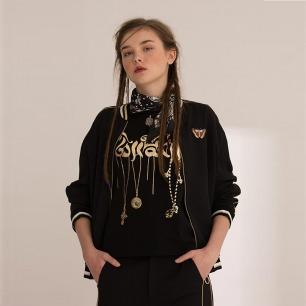 复古运动夹克衫 蝴蝶丝绣图案 | 精致手工丝绣 时尚个性