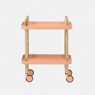 北欧简约小推车桌子 | 可移动的随身置物桌