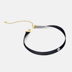 黑白丝带颈链 三款可选 | 银镀18K金搭配轻奢丝带