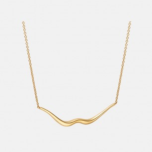 含情脉脉 唇形项链 | 银镀18K金 轻奢优雅