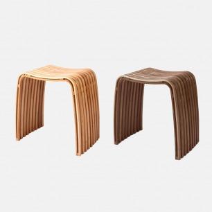 轻巧设计弧形凳 两色可选 | 简约舒适稳固 家居必备