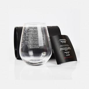 印刻有品酒词的水晶酒杯 | 饮酒之时 与你共学品酒词