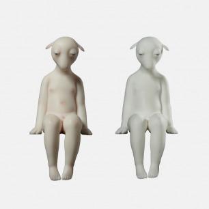 坐着的羊 个性艺术摆件 | 刻画传神 造型独特而大胆