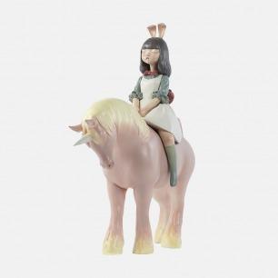 夜行独角兽 手工艺术摆件 | 超治愈的白夜童话系列雕塑