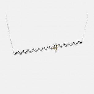 通心螺旋意面项链 | 优质黄铜 镀18K金
