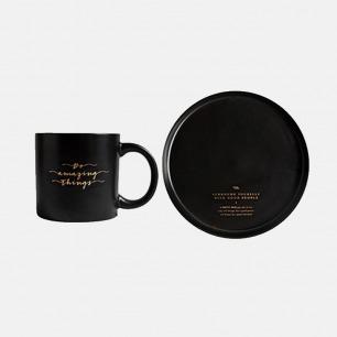 马克杯&餐盘套装 黑白两款 | 造型简洁 黑白色经典耐看