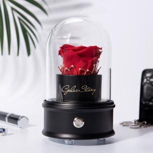 智能蓝牙永生花暖灯礼盒 | 手作厄瓜多尔永生玫瑰