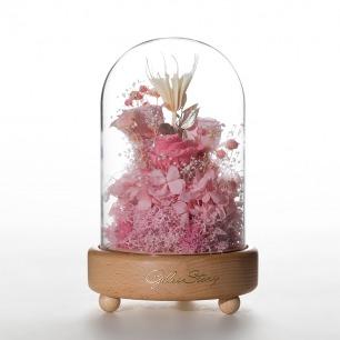 限量版永生花手工八音盒 | 永不凋谢的鲜花和爱情