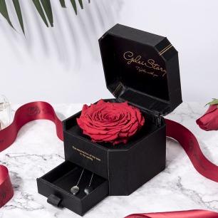 永生花淡水珍珠礼盒 | 厄瓜多尔浪漫永生玫瑰