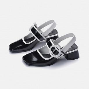 白日梦黑白玛丽珍鞋   小众独特又具艺术感的美鞋