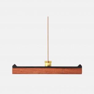 宋韵檀木黄铜香器 | 灵感来自宋朝官帽造型