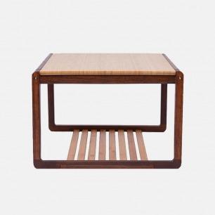 天然竹木茶几桌子 古朴优雅 | 可品茶阅书或闲谈 轻巧稳固