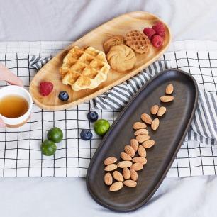 竹叶形茶托/竹盘 两款可选 | 优质楠竹打造耐用环保茶托