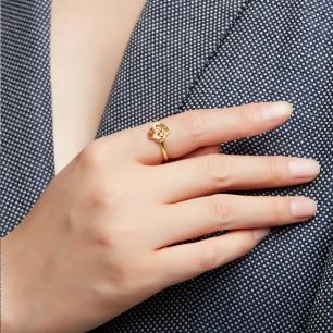 绳结记事红色珐琅戒指 | 把吉祥美好的寓意佩戴在身上