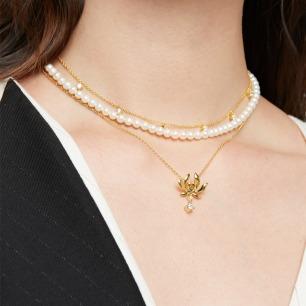故宫步步莲花组合项链 | 把吉祥美好的寓意佩戴在身上