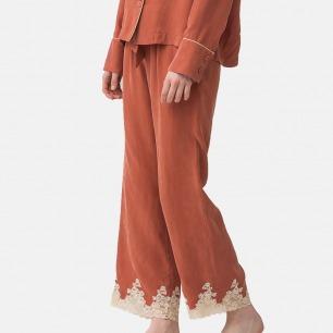 女士蕾丝长裤家居服 | 亲肤铜氨面料 触感舒适