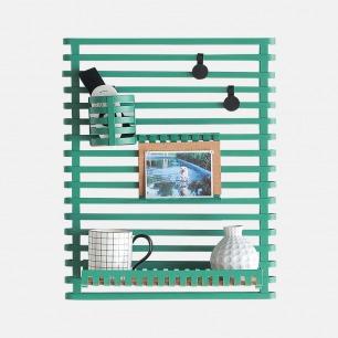 复古绿墙面收纳架套装 | 墙面空间巧利用 配件可选