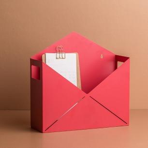 杂志收纳盒 别致信封造型 | 巧妙收纳 可挂墙亦可平放