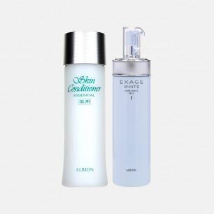 健康水+清爽型焕白渗透乳套装 | 先乳后水 嫩肤亮白又保湿