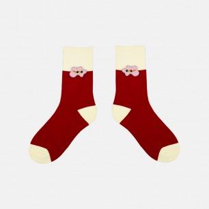 圣诞融化系列加厚纯棉袜子   经典的圣诞配色 柔软亲肤