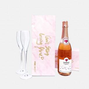 意大利桃红冰果起泡酒礼盒 | 搭配香槟杯 开启甜蜜浪漫