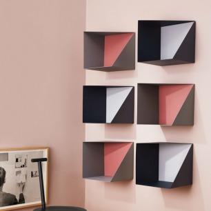 多功能墙面收纳盒 仅背板 | 明亮的颜色 镶嵌在墙壁上