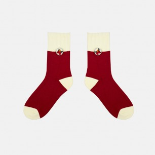 圣诞驯鹿系列加厚纯棉袜子   经典的圣诞配色 柔软亲肤