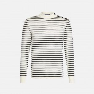 圆领长袖羊毛衫-男女同款 | 条纹衫鼻祖 众多明星同款