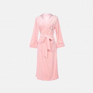 休闲雅致珊瑚绒刺绣睡袍 | 居家服也可以很有格调