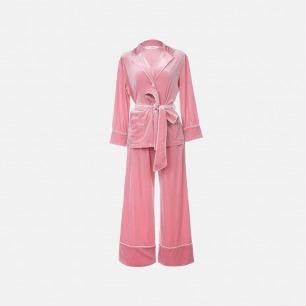 柔软珊瑚绒绒睡衣套装 | 舒适保暖 名媛气质