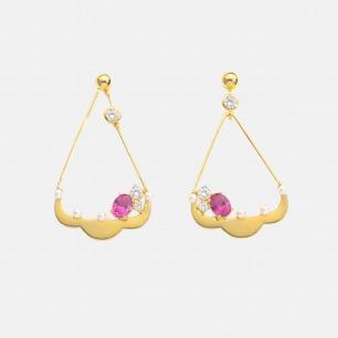 海盗船耳环 | 925银镀18K金 淡水珍珠