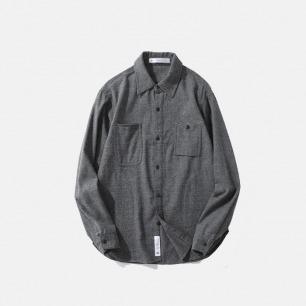 限量款双色编织衬衫   高级的灰色随意搭配外套