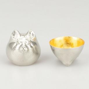锡与金箔十二生肖酒杯-金色 | 储茶色味不变 盛酒淳厚清冽