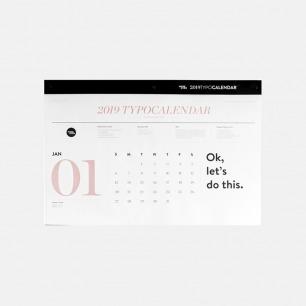 时髦脏粉元素2019挂历 | 黑白页交替设计 每页可撕