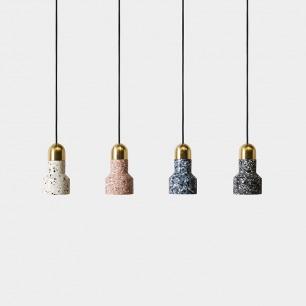 北欧简约 艺术水磨石吊灯 | 打造质感满满的时尚空间