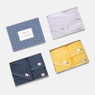 日本进口优雅素色毛巾套装 | 柔软亲肤 含浴巾/方巾/面巾