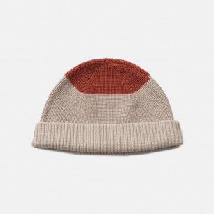 时尚拼色毛线帽 男女同款 | 复古针织冷帽 温柔不扎