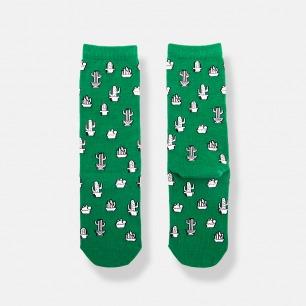 仙人掌潮袜女士中筒袜 | 真正的精致连袜子都不放过