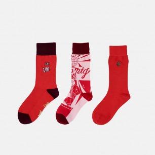 新年特别款 中筒袜组合 | 本命年就要红 点亮整个新年